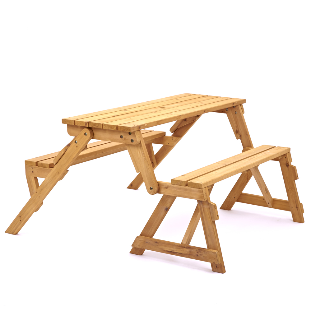 Trueshopping Modbury Two In One Convertible Garden Bench And Picnic Table Ebay